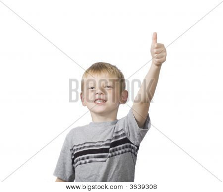 Happy Boy Giving The Thumbs Up Sign