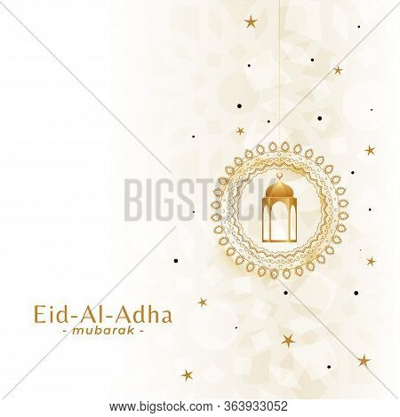 Beautiful Eid Al Adha Festival Background Design Illustration