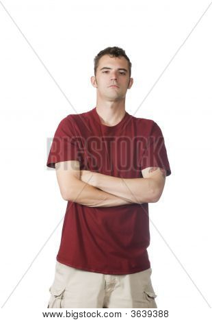 Confident Man Standing With Arms Crossed