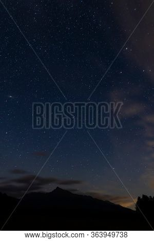 night sky with Krivan, Hight Tatras, Slovakia