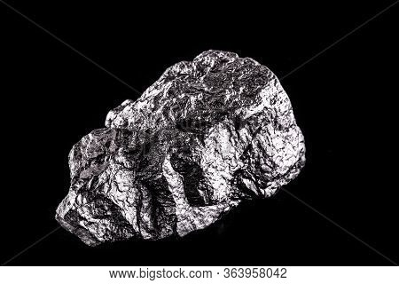 Rhodium Nugget, Chemical Element With Rh Symbol, Metal For Industrial Use, Used In Jewelry And Autom