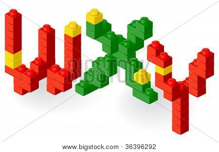 Construction block vector ABC. Letter Z. poster