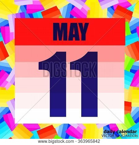May 11 Icon. For Planning Important Day. Banner For Holidays And Special Days. Eleventh Of May. Vect
