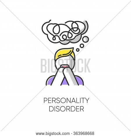 Personality Disorder Color Icon. Maladaptive Behaviour. Deviation. Mental Health Issue. Anxiety And