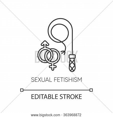 Sexual Fetishism Linear Icon. Erotic Play. Sex Toy Stimulation. Kinky Relationship. Mental Disorder.