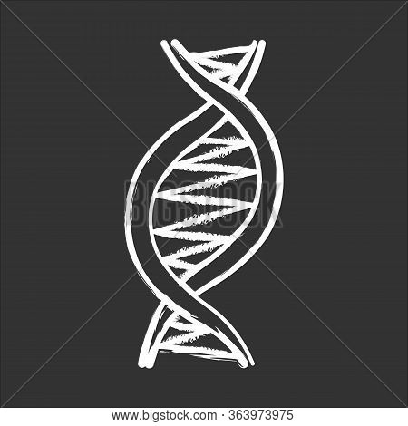 Left-handed Dna Helix Chalk Icon. Z-dna. Deoxyribonucleic, Nucleic Acid Structure. Spiral Strand. Ch