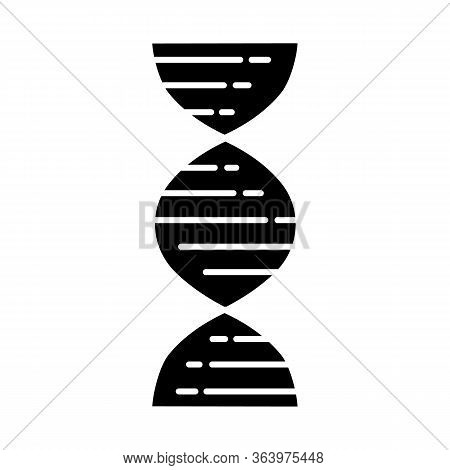 Dna Double Helix Glyph Icon. Deoxyribonucleic, Nucleic Acid Structure. Chromosome. Molecular Biology
