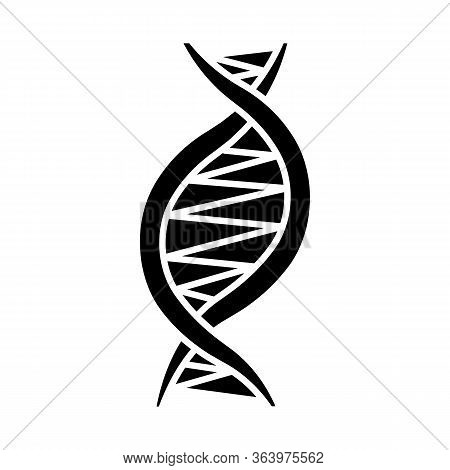 Left-handed Dna Helix Glyph Icon. Z-dna. Deoxyribonucleic, Nucleic Acid. Chromosome. Molecular Biolo