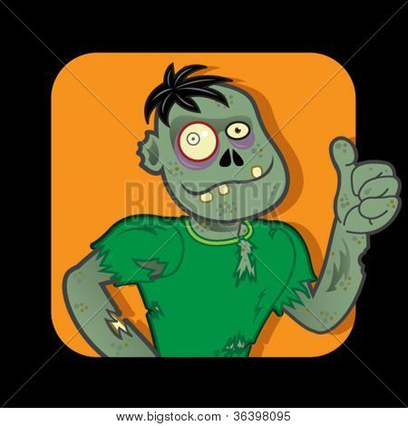 Zombie Character approving with Thumb up