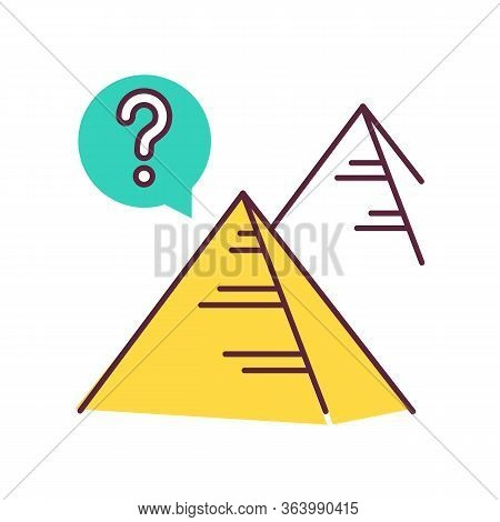 Pyramid Mystery Color Icon. Egyptian Monument. Historical Secrets. Egypt Architecture. Ancient Tomb.