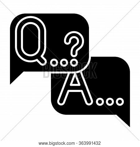 Q A Survey Glyph Icon. Social Research. Questions And Answers Poll. Customer Satisfaction. Feedback.