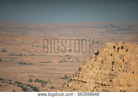 The Old Berber Village Of Chenini In The South Region Of The Dahar, Southern Tunisia, Near Tataouine