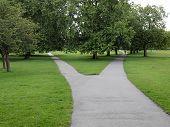 Regent Park landscape in London England UK poster
