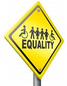 equality, equal rights for everybody solidarity and human right no discrimination poster