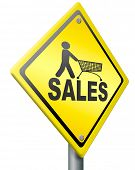 sales online webshop selling place order on internet web shop summer sales or winter sales icon in yellow and isolated poster