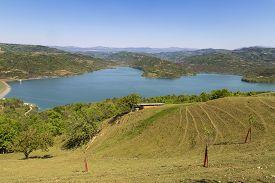 Lake Butoniga, Natural Drinking Reservoir In Istria, Croatia