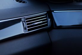 Car Air Conditioning. The Air Flow Inside The Car.