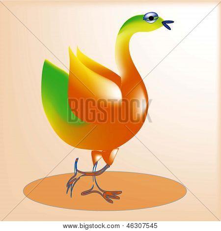 3 Cheerful bird.