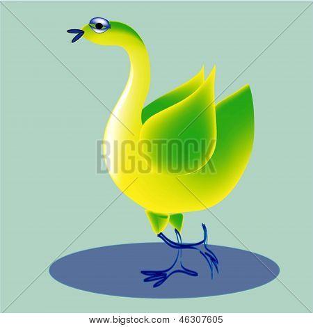 Cheerful bird.
