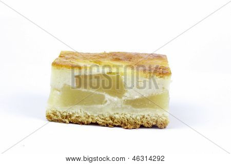apple pie  on the white background