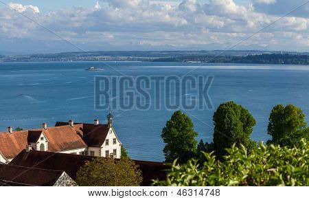 Bodensee On A Beautiful Day Close To Birnau