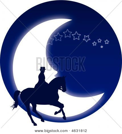 Horse and moon.