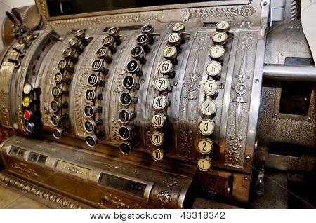 Old Bulky Vintage Cash Register