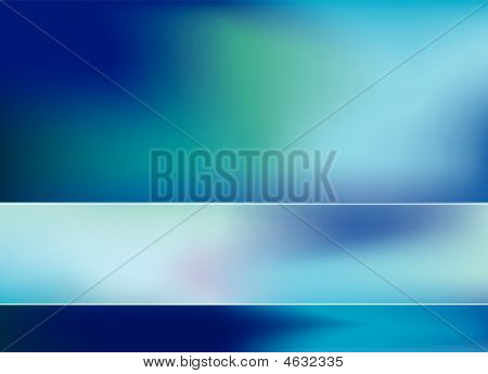 Abstract Blue And Cyan Bar