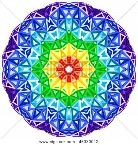 Rainbow kaleidoscope vector vibrant circle. This is file of EPS10 format. poster
