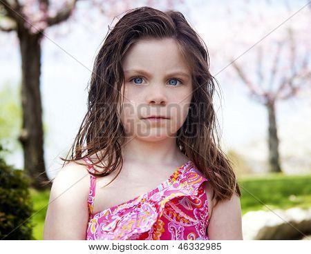 Upset Child Outside In Park