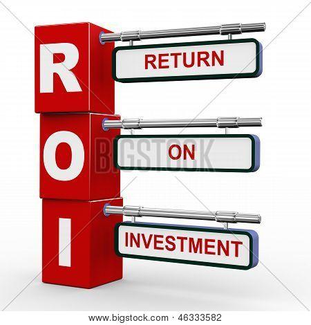 3D Modern Signboard Of Roi