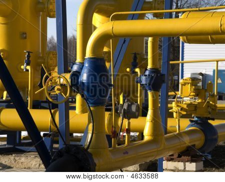 Pipelines On Gas Distribution Station (russia)