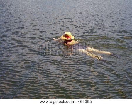 Straw Hat Swimmer