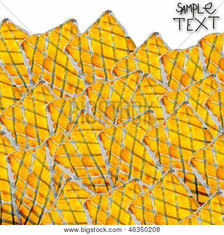 background art hand yellow black watercolour brush texture isola