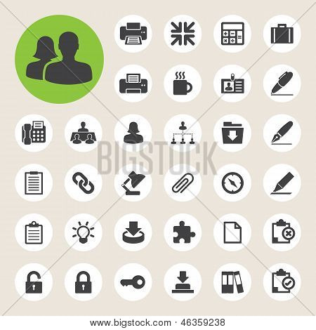 Office tool icons set.