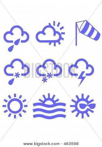 Meteorological Symbols Icons