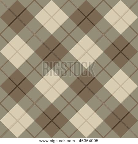 Plaid Pattern in Brown and Beige