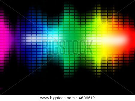 Music Frequency Equalizer Illustration
