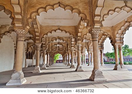 Many Arches Inside Red Fort