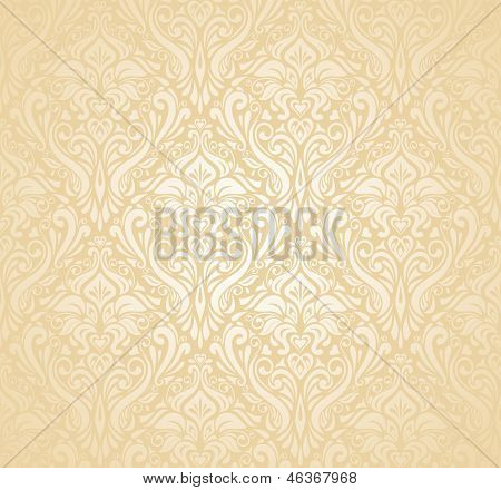 gentle peach floral Wedding marriage bridal background poster