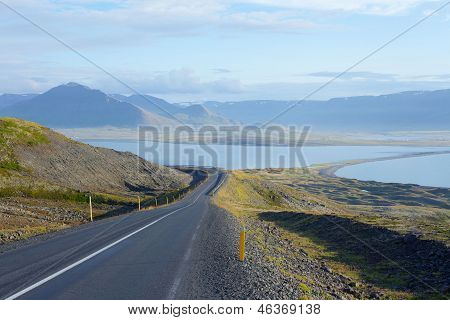 Scenic road on iceland