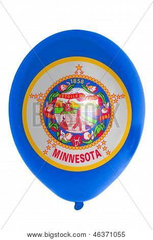 Balloon Colored In  Flag Of American State Of Minnesota