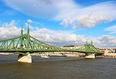 Liberty Bridge over Danube river in Budapest, Hungary poster