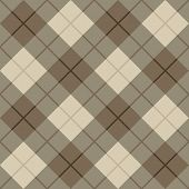 Seamless vector diagonal plaid pattern in browns and beige. poster