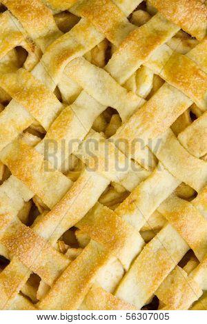 Lattice Pastry Apple Pie Top, Cooked