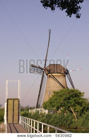 One of the Windmills in Kinderdijk in the Netherlands poster