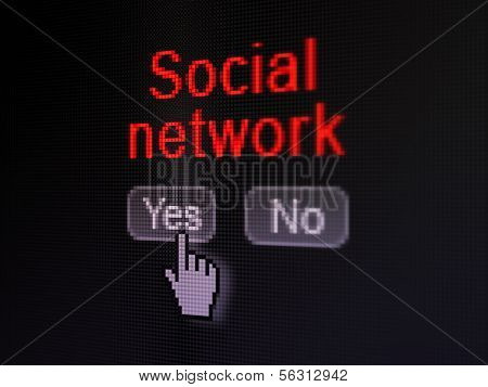 Social media concept: Social Network on digital computer screen