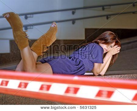 Woman In A Garage