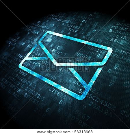 Business concept: Email on digital background