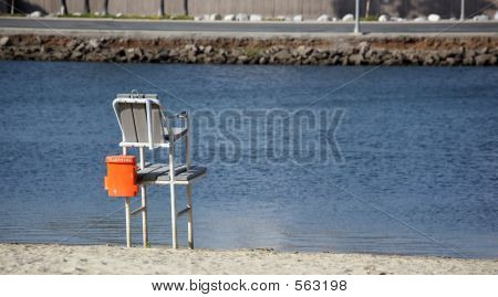 Empty Lifeguard Chair